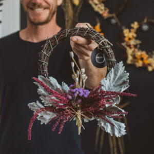 Dried Flower Wreaths by Pollinate Flowers